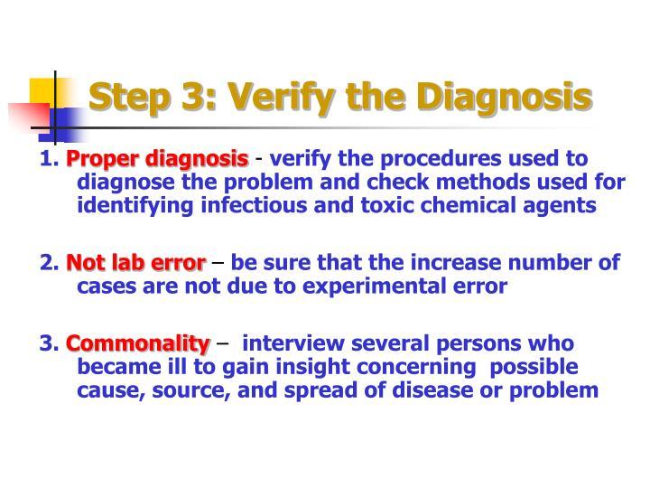 Step 3: Verify the Diagnosis