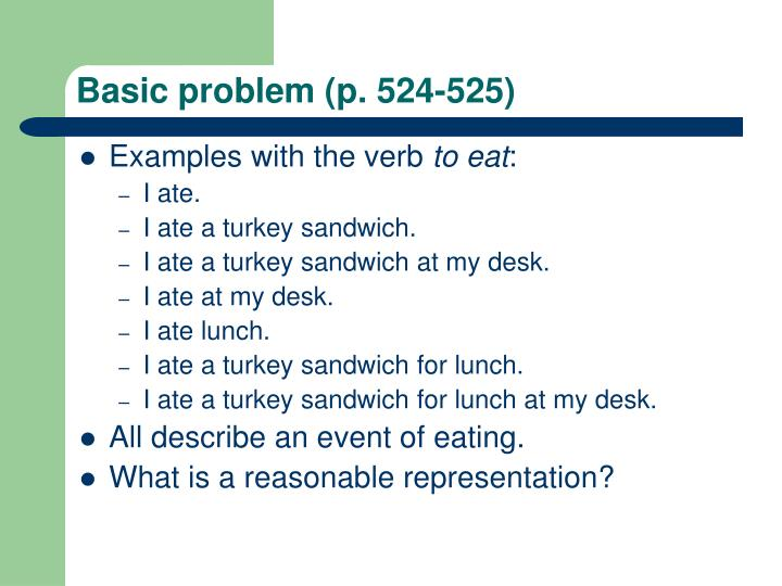 Basic problem (p. 524-525)
