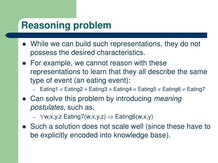 Reasoning problem