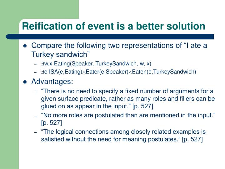 Reification of event is a better solution