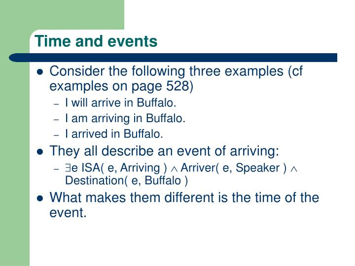Time and events
