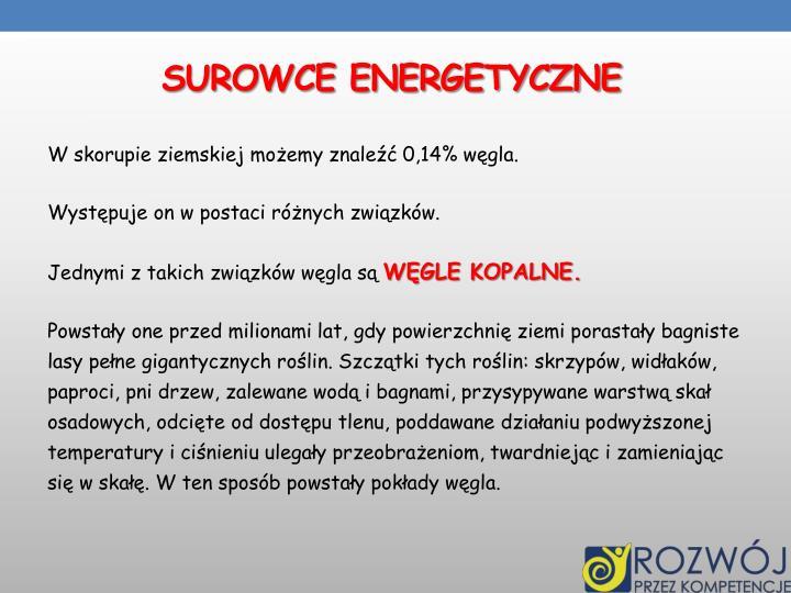 SUROWCE ENERGETYCZNE