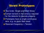 straw prototypes