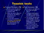 tension tests