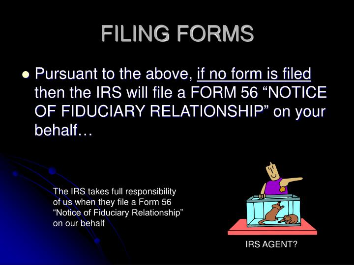 FILING FORMS