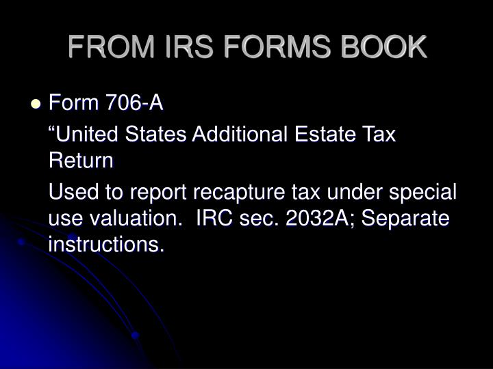 FROM IRS FORMS BOOK
