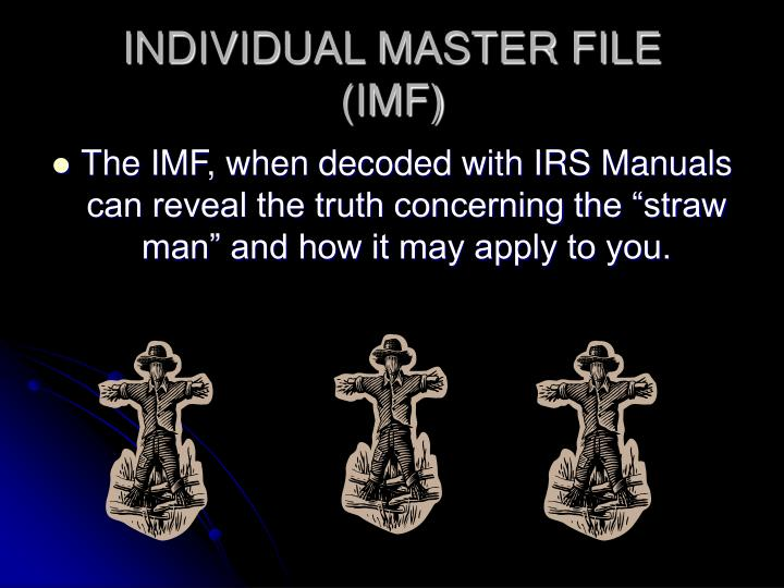 Individual master file imf