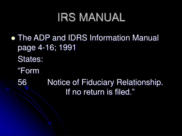 IRS MANUAL