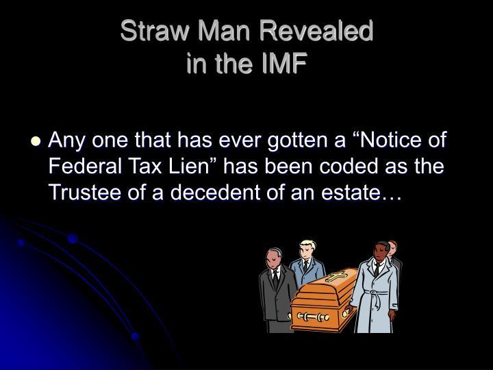 Straw Man Revealed