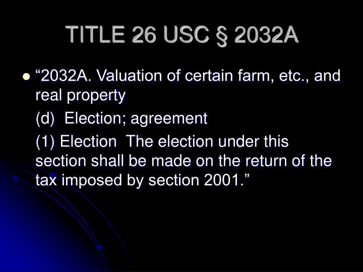 TITLE 26 USC