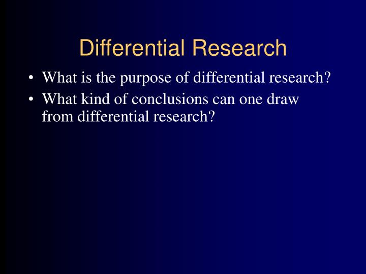 Differential Research