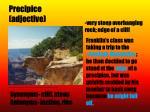 precipice adjective