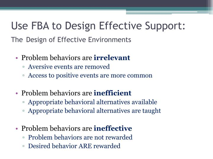 Use FBA to Design Effective Support: