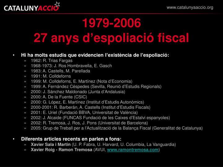 1979 2006 27 anys d espoliaci fiscal