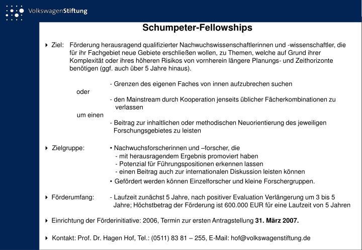 Schumpeter-Fellowships