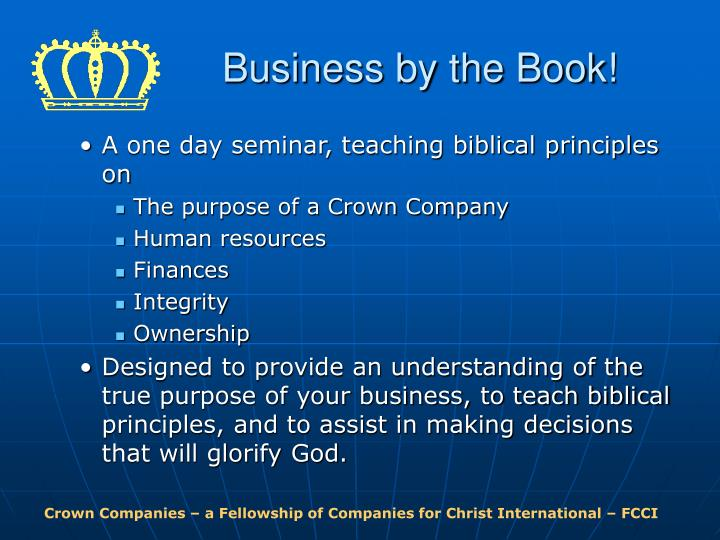 Business by the Book!
