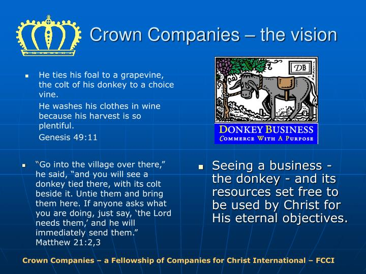 Crown companies the vision