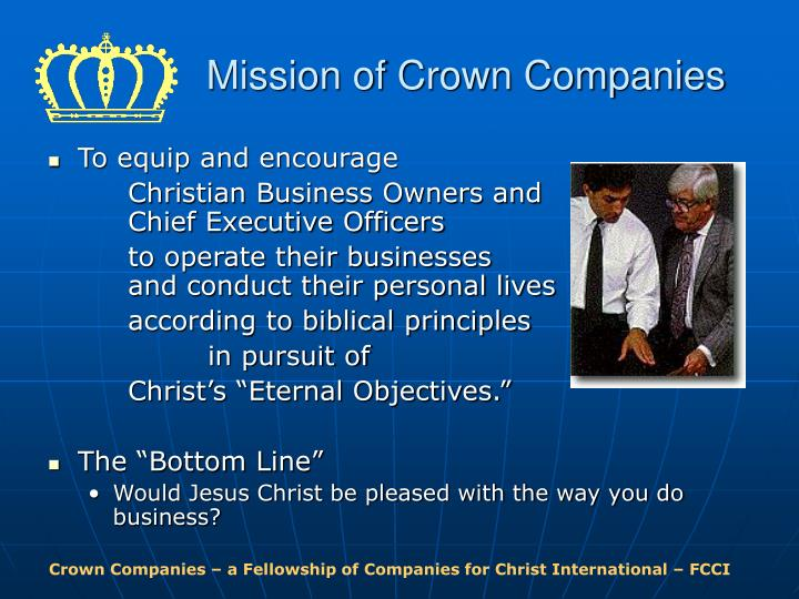Mission of Crown Companies