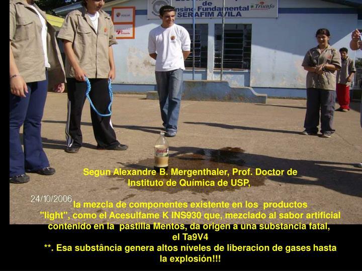 Segun Alexandre B. Mergenthaler, Prof. Doctor de