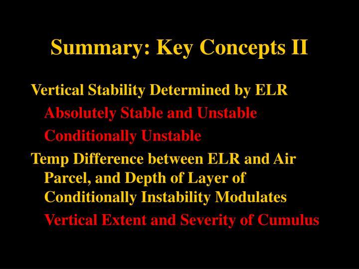 Summary: Key Concepts II