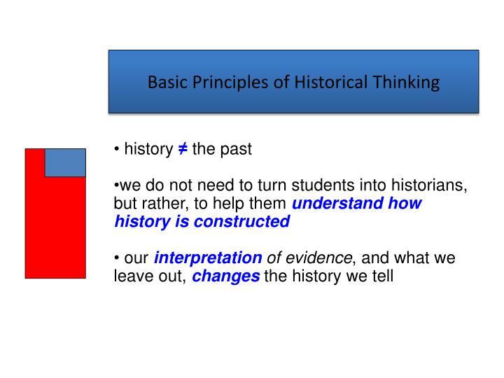 Basic principles of historical thinking