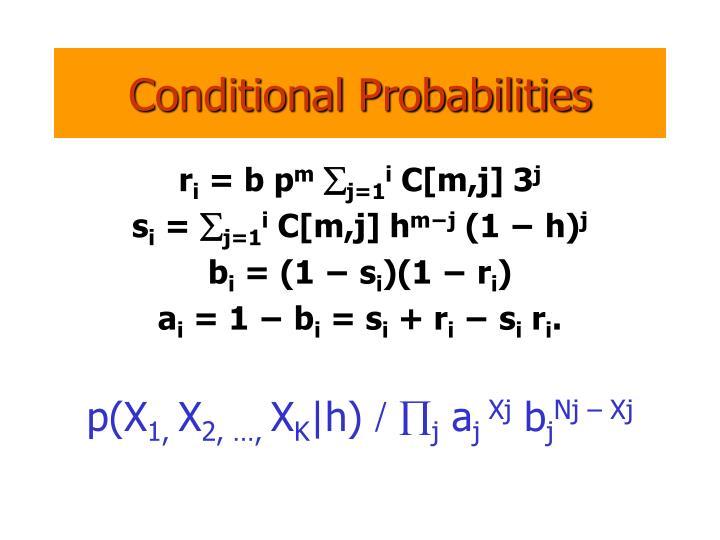 Conditional Probabilities