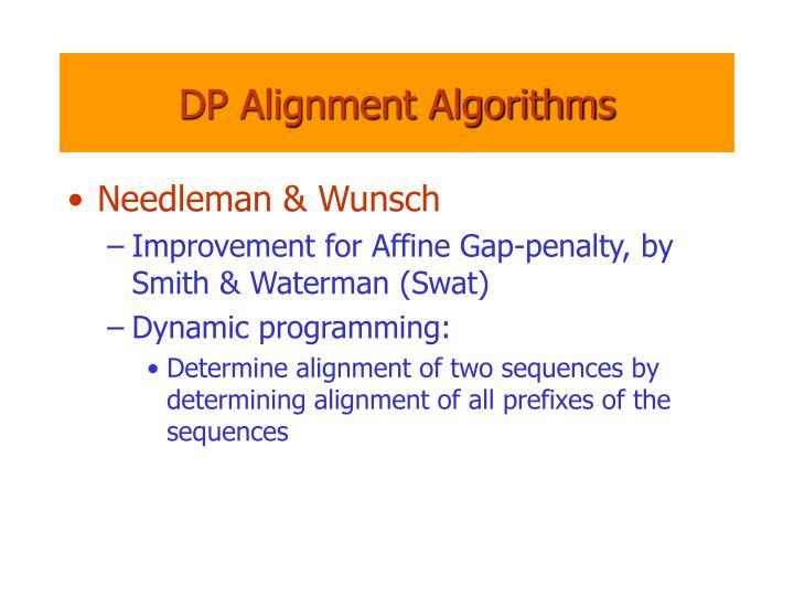 DP Alignment Algorithms