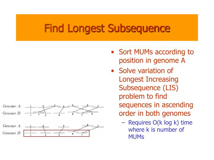 Find Longest Subsequence