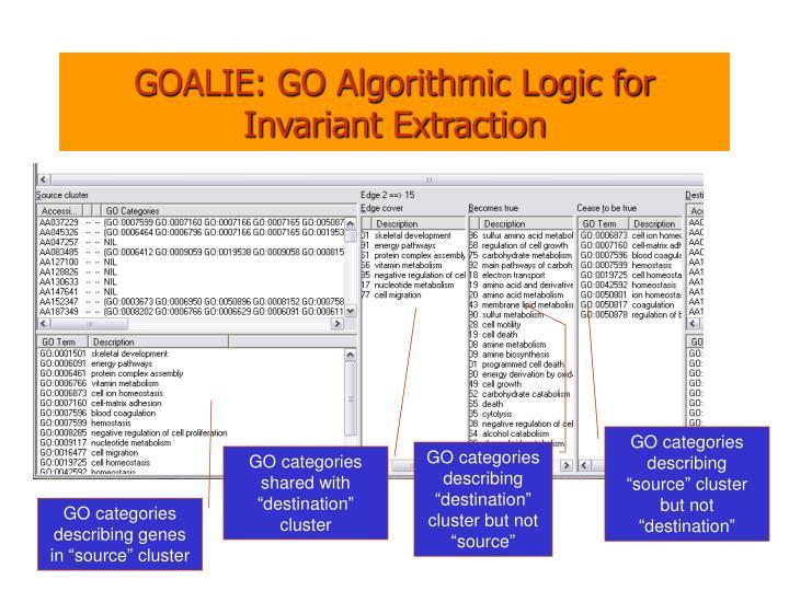GOALIE: GO Algorithmic Logic for Invariant Extraction