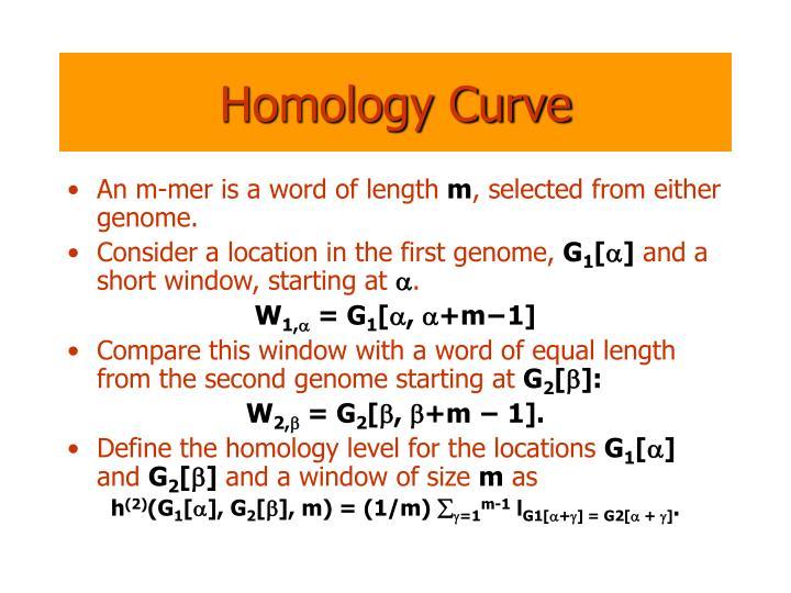 Homology Curve