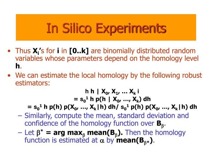 In Silico Experiments