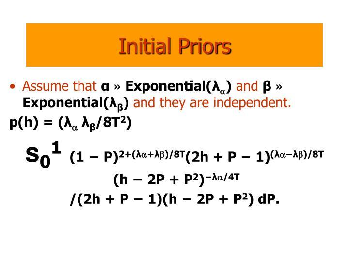 Initial Priors