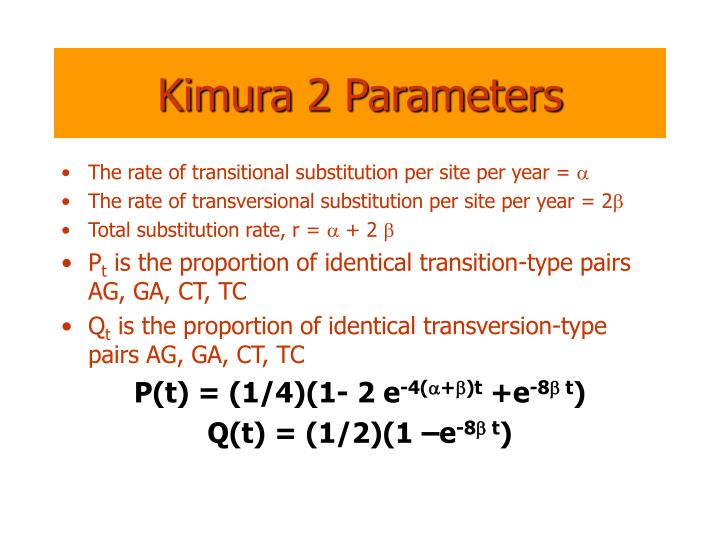 Kimura 2 Parameters