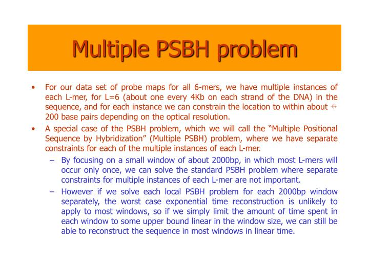 Multiple PSBH problem