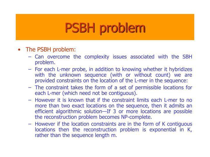 PSBH problem