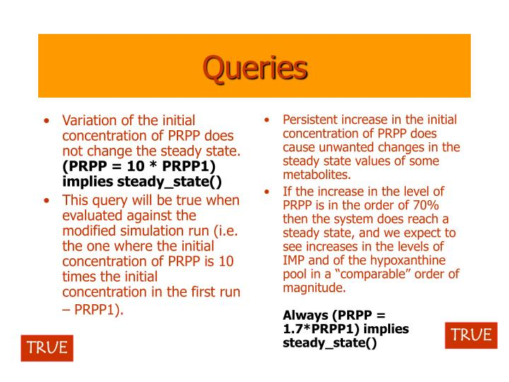 Variation of the initial concentration of PRPP does not change the steady state.