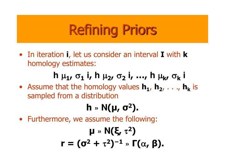 Refining Priors