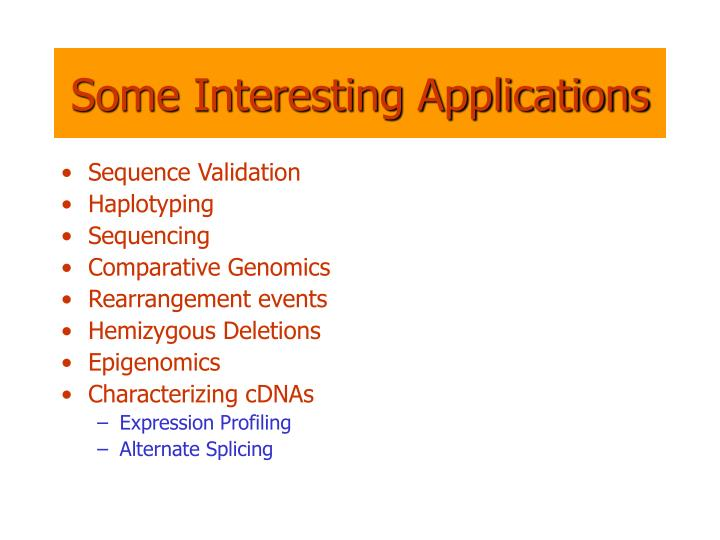 Some Interesting Applications
