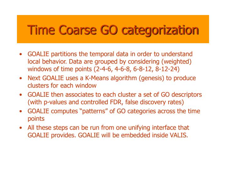 Time Coarse GO categorization