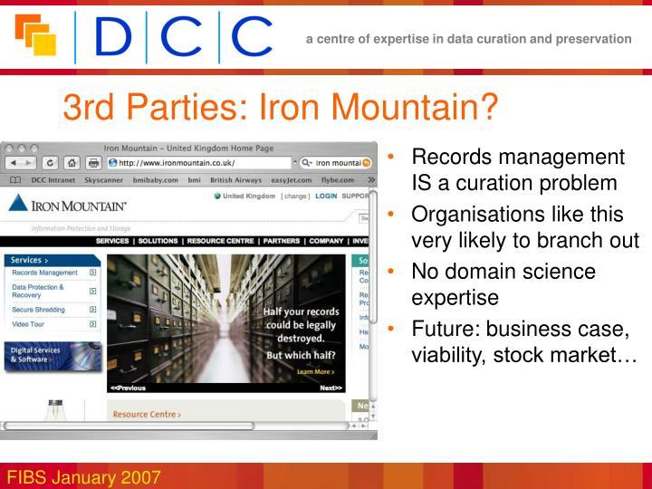 3rd Parties: Iron Mountain?