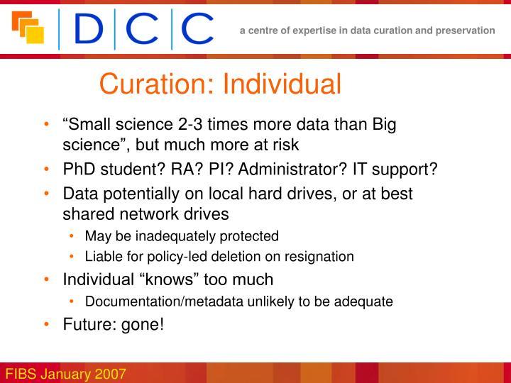 Curation: Individual