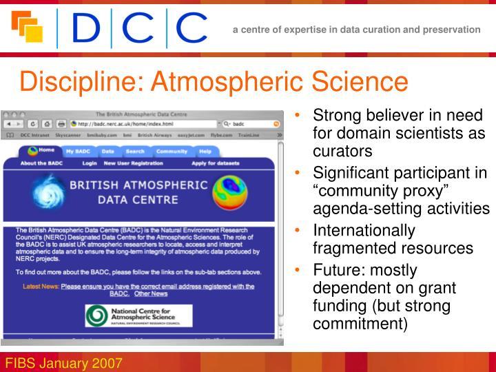Discipline: Atmospheric Science