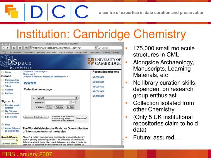 Institution: Cambridge Chemistry