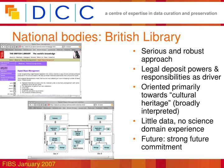 National bodies: British Library