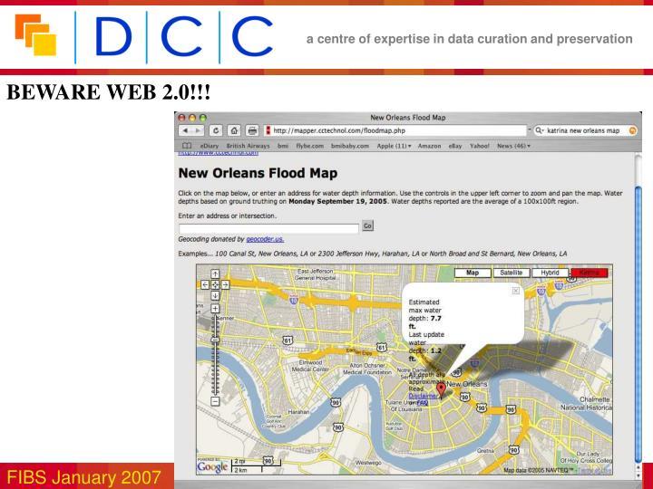 BEWARE WEB 2.0!!!