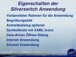 eigenschaften der silverswitch anwendung