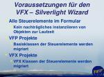 voraussetzungen f r den vfx silverlight wizard1