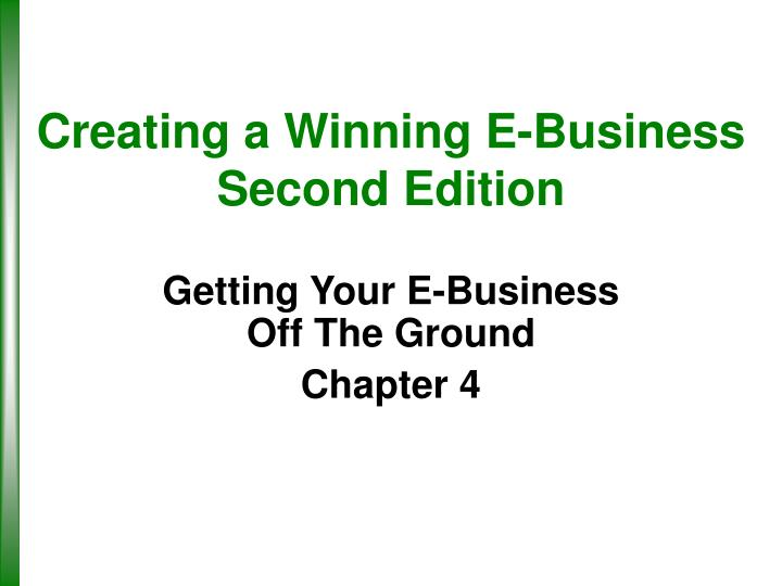 Creating a winning e business second edition