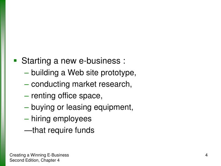 Starting a new e-business :