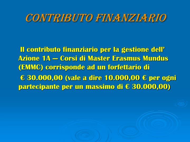 Contributo finanziario